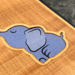 Load image into Gallery viewer, Baby Elephant - Engraved Wood & Resin Case - Black