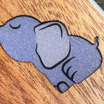 Load image into Gallery viewer, Baby Elephant - Wood & Resin Case - White