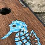 Load image into Gallery viewer, Seahorse - Wood & Resin Case - Black