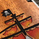Load image into Gallery viewer, Ghost Pirate Ship - Wood & Resin Case - White