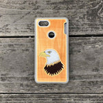 Load image into Gallery viewer, Bald Eagle - Engraved Wood Case - White
