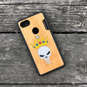 Punisher Skull in Crown - Wood & Resin Case - Black