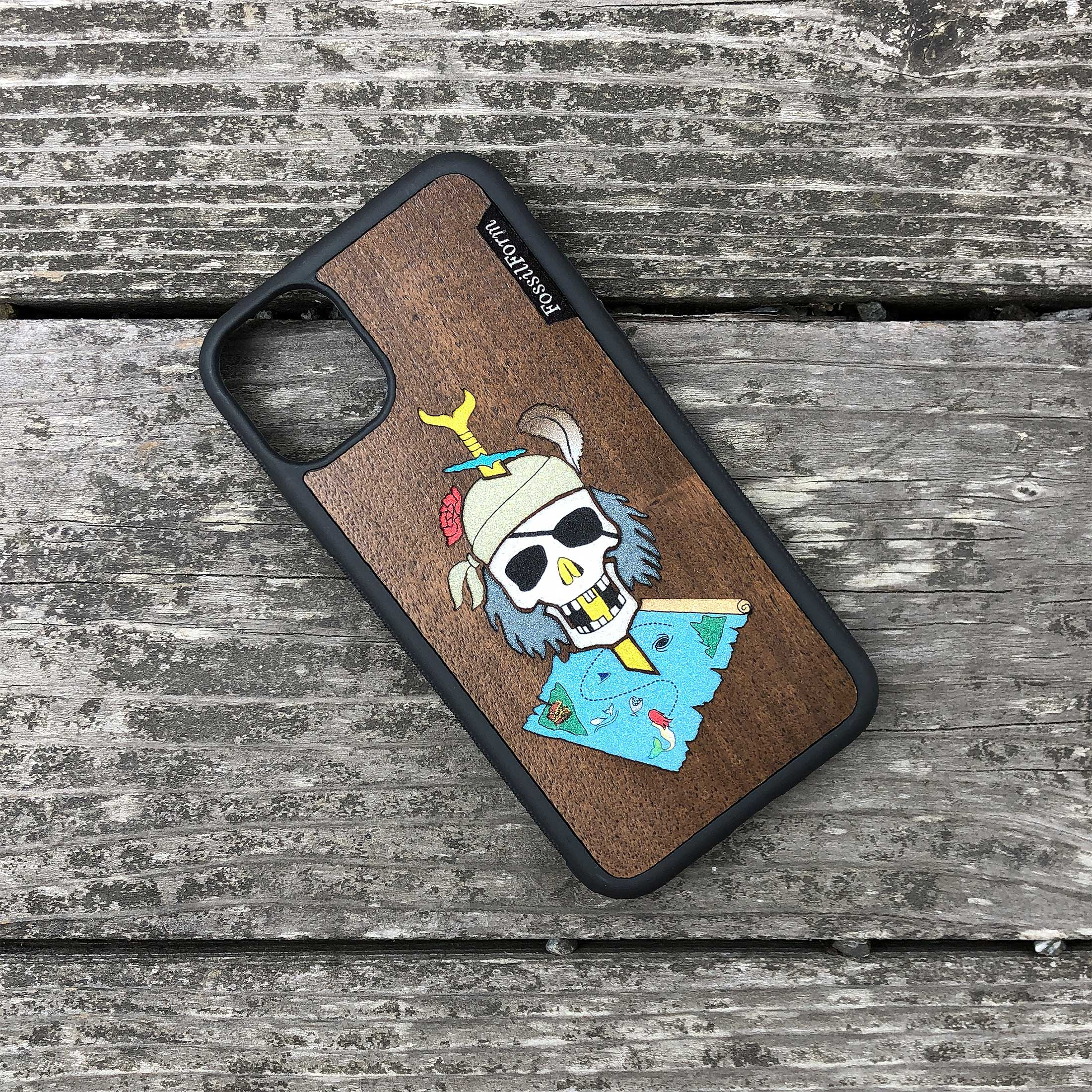 Dead Pirate - Wood & Resin Case - Black