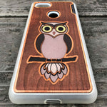 Load image into Gallery viewer, Owl - Engraved Wood & Resin Case - White