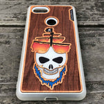 Load image into Gallery viewer, Ghost Pirate Ship - Engraved Wood & Resin Case - White