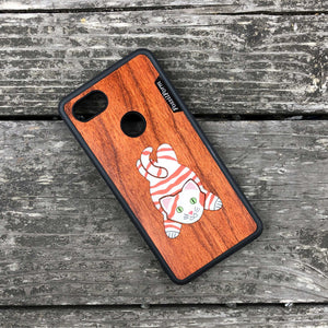 Lazy Cat - Wood & Resin Case - Black