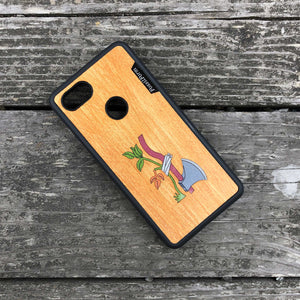 Axe & Plant - Wood & Resin Case - Black