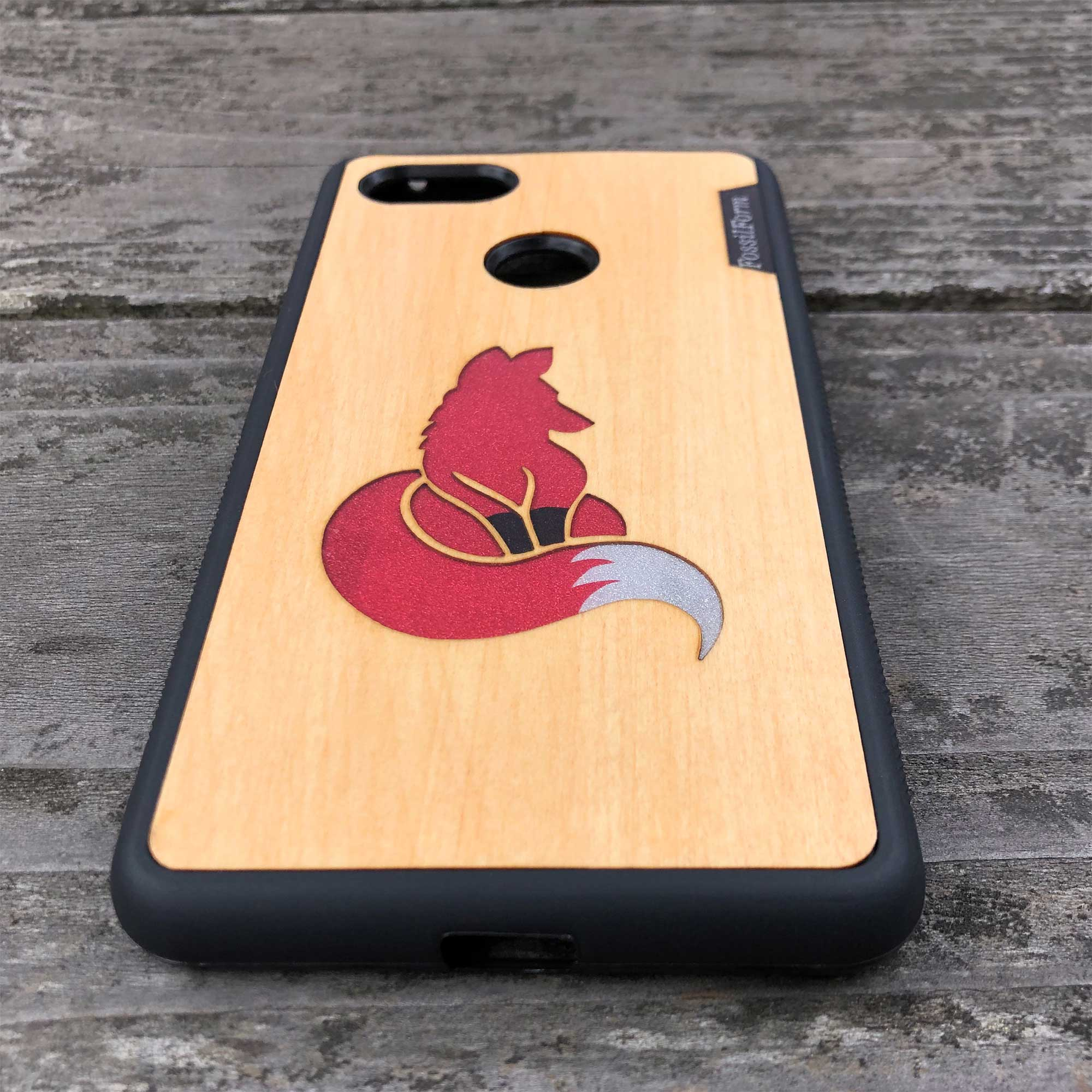 Fox - Wood & Resin Case - Black