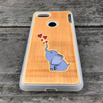Load image into Gallery viewer, Baby Elephant - Engraved Wood & Resin Case - White