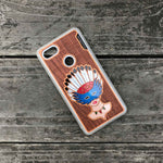 Load image into Gallery viewer, Girl With Native American Feather Headdress - Engraved Wood & Resin Case - White