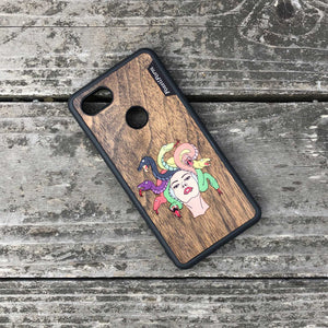 Medusa - Wood & Resin Case - Black
