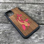 Load image into Gallery viewer, Koi Fish - Wood & Resin Case - Black
