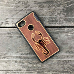 Load image into Gallery viewer, Scorpion - Engraved Wood & Resin Case - Black