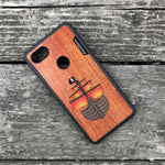 Load image into Gallery viewer, Pirate Ship - Wood & Resin Case - Black