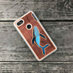 Load image into Gallery viewer, Humpback whale - Engraved Wood & Resin Case - White