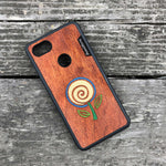 Load image into Gallery viewer, Minimalist Flower - Wood & Resin Case - Black