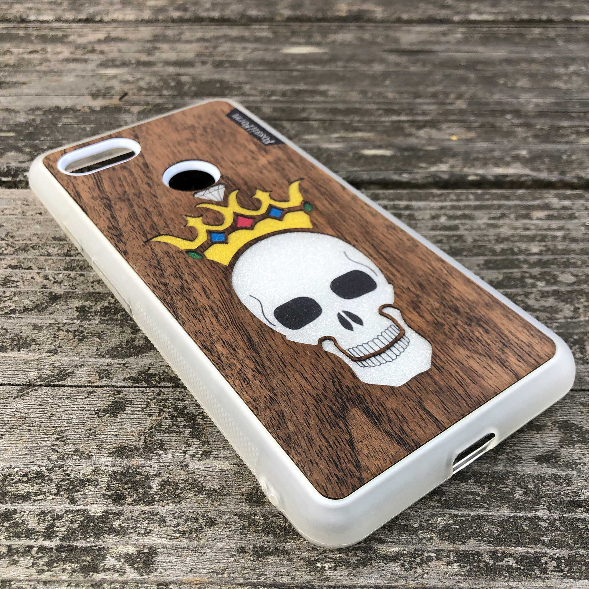 Forever King - Wood & Resin Case - White