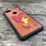 Load image into Gallery viewer, Phoenix - Wood & Resin Case - Black
