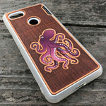 Load image into Gallery viewer, Octopus - Engraved Wood & Resin Case - White