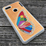 Load image into Gallery viewer, Butterfly Wing - Engraved Wood & Resin Case - White
