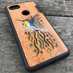 Load image into Gallery viewer, Hummingbird - Wood & Resin Case - Black