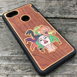 Load image into Gallery viewer, Medusa - Engraved Wood & Resin Case - Black