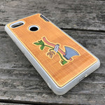 Load image into Gallery viewer, Axe & Plant - Engraved Wood & Resin Case - White