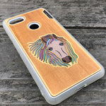 Load image into Gallery viewer, Horse - Engraved Wood & Resin Case - White