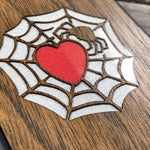 Load image into Gallery viewer, Spider and Heart - Wood & Resin Case - Black