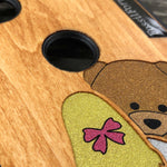 Load image into Gallery viewer, Girl and Teddy bear - Wood & Resin Case - Black