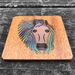 Load image into Gallery viewer, Horse - FossilForm drink coaster