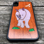 Load image into Gallery viewer, Rhinoceros - Wood & Resin Case - Black