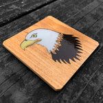 Load image into Gallery viewer, Bald Eagle FossilForm drink coaster