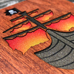Load image into Gallery viewer, Pirate Ship - FossilForm drink coaster