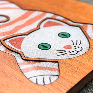 Lazy Cat - FossilForm drink coaster