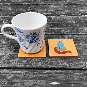 Little Fox FossilForm drink coaster