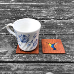 Load image into Gallery viewer, Hummingbird - FossilForm drink coaster