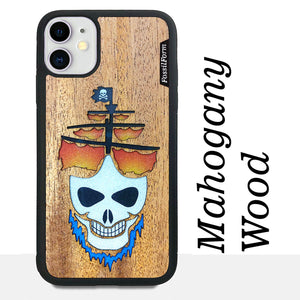 Ghost Pirate Ship - Wood & Resin Case - Black