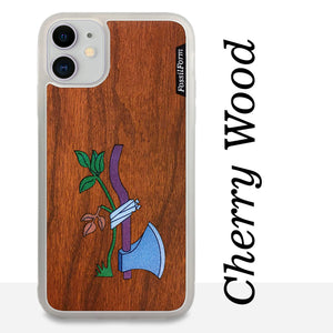 Axe & Plant - Wood & Resin Case - White