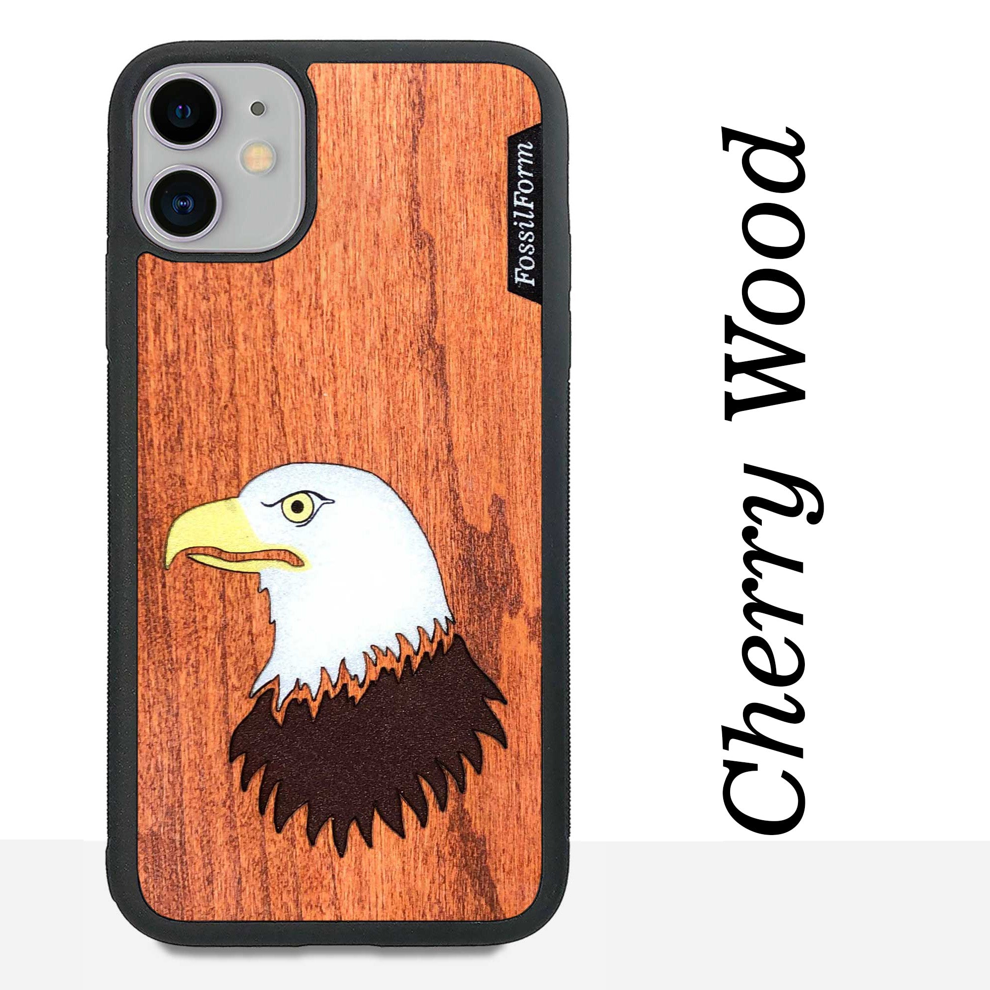 Bald Eagle - Wood & Resin Case - Black
