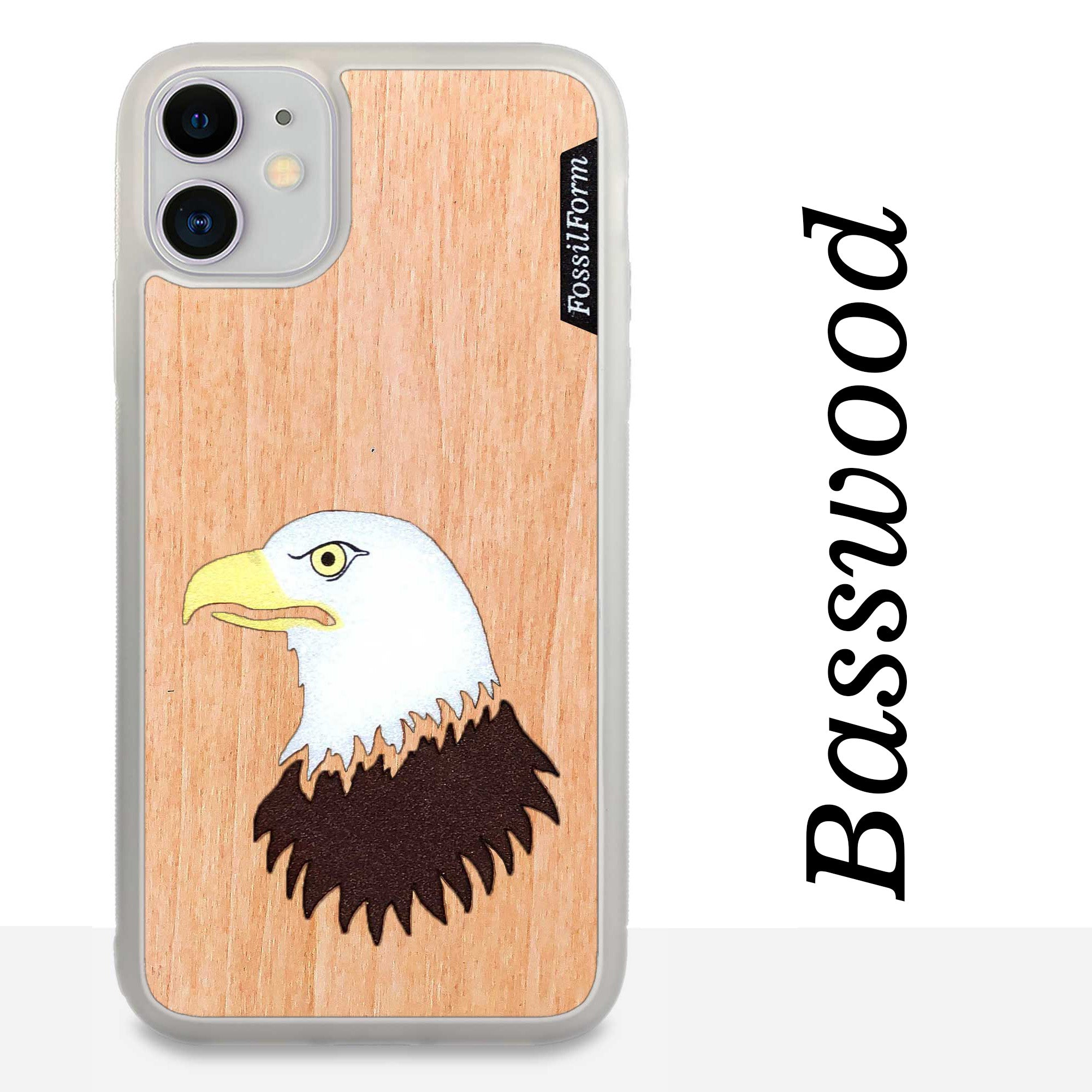 Bald Eagle - Wood & Resin Case - White