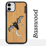 Load image into Gallery viewer, Bat and the Moon - Wood & Resin Case - Black