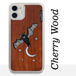 Load image into Gallery viewer, Bat and the Moon - Wood & Resin Case - White