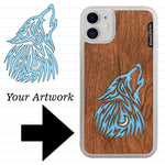 Load image into Gallery viewer, Custom-Made Wood + Resin + Glitter Phone Case - White