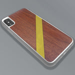 Load image into Gallery viewer, Gold Diagonal Stripe - Wood & Resin Case - White