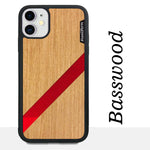 Load image into Gallery viewer, Red Diagonal Stripe - Wood & Resin Case - Black