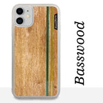 Load image into Gallery viewer, Green & Gold Double Stripes - Wood & Resin Case - White