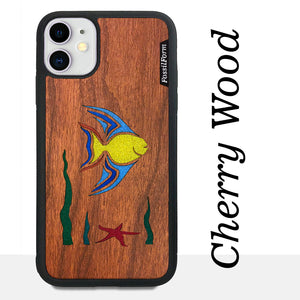 Fish - Wood & Resin Case - Black