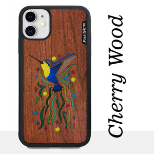Hummingbird - Wood & Resin Case - Black
