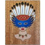 Load image into Gallery viewer, Girl With Native American Feather Headdress Fridge Magnet